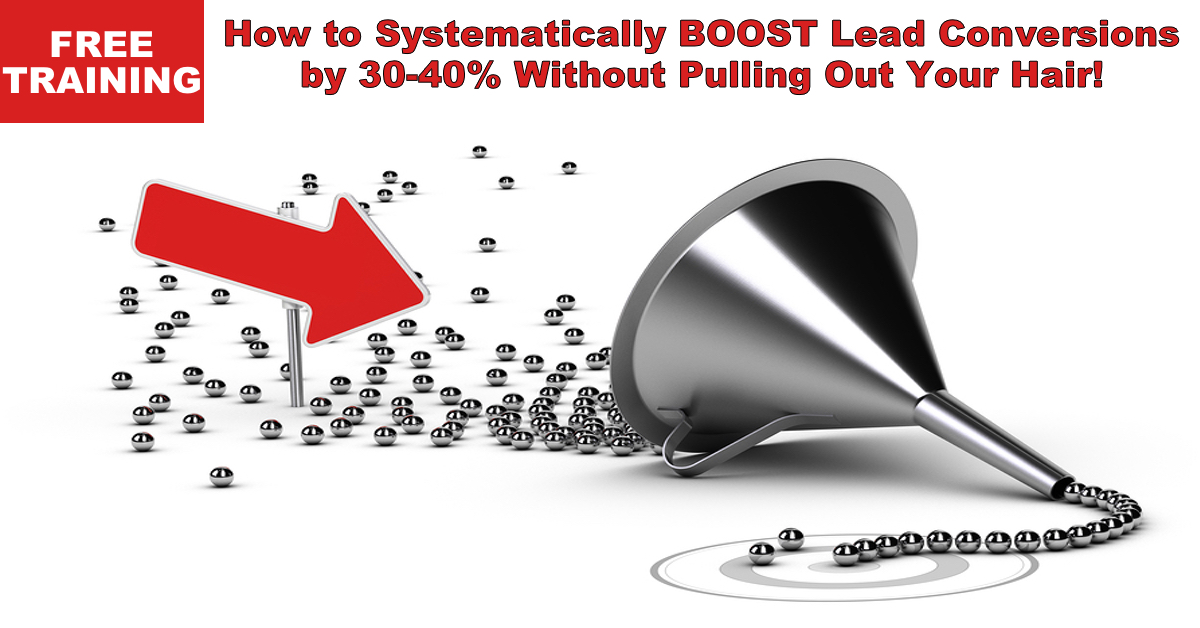 FREE Training: How to Systematically Boost Conversions by 30-40% Without Pulling Out Your Hair!