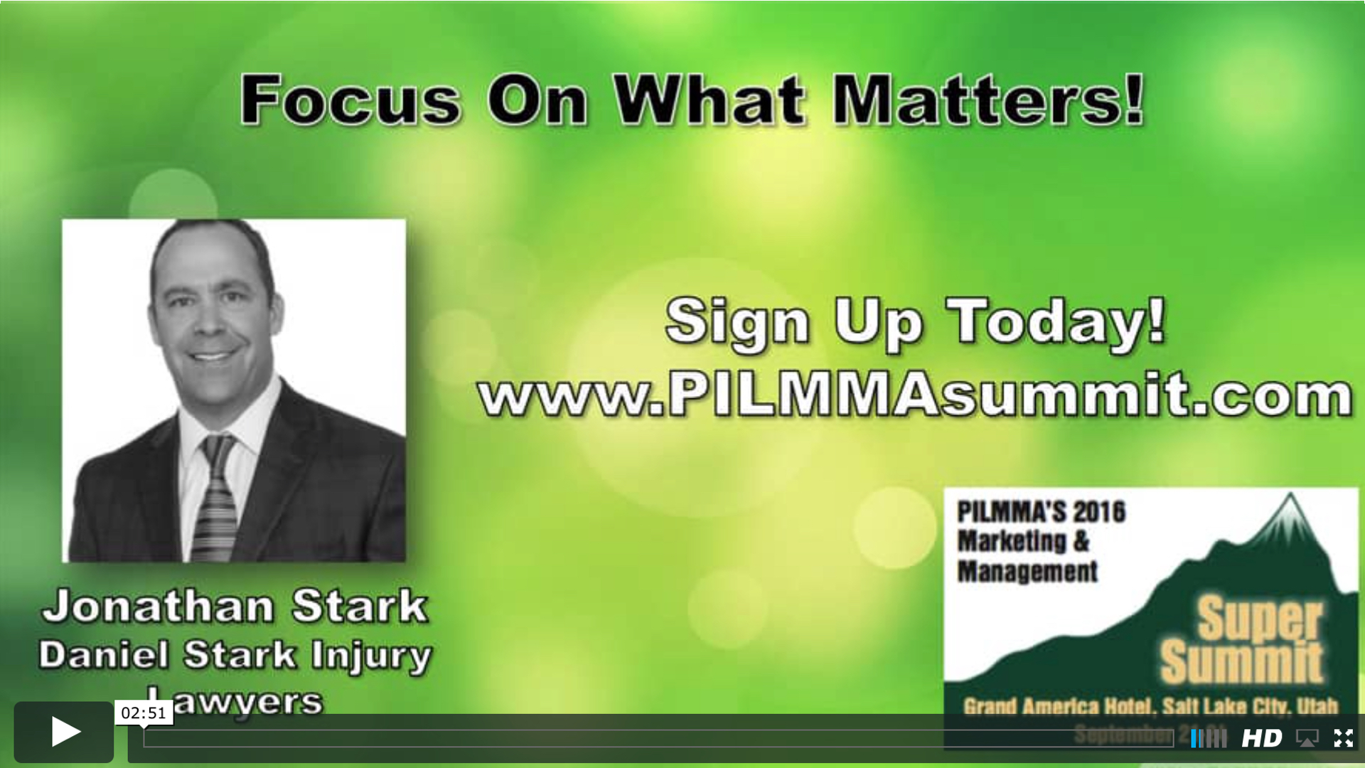 Interview Focus On What Matters W Jonathan Stark Personal