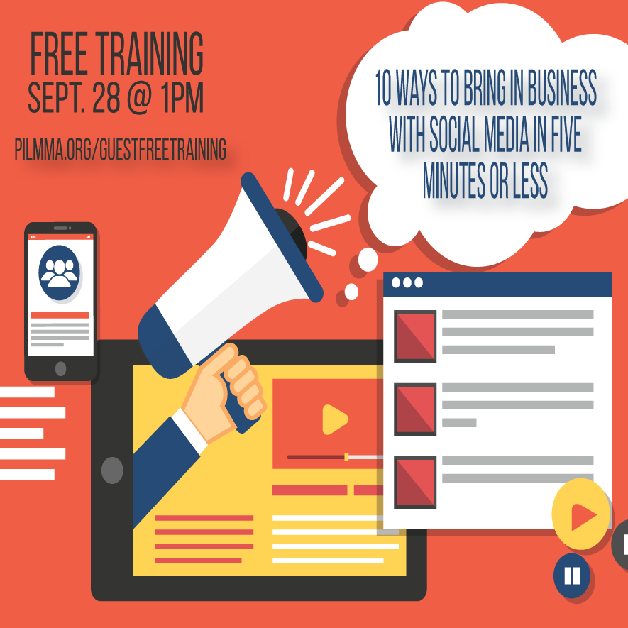FREE TRAINING: 10 Ways to Bring in Business with LinkedIn, Twitter and Facebook in Five Minutes or Less with Adrian Dayton