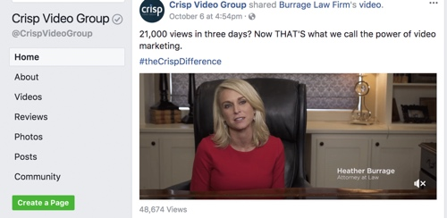 crisp video, pilmma, injury lawyer marketing, Facebook marketing for lawyers, Facebook law firm, law firm videos, law firm internet marketing