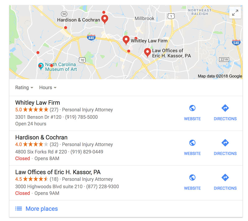 google map listing, google 3 pack, law firm seo, law firm website content, desktop vs mobile search display, voice search, law firm voice search, law firm siri search, micro moments, web content for law firms, what type of content should i have on my law firm website, website marketing for law firms, local search
