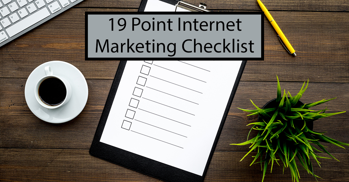 19 Point Checklist: Optimizing Your Law Firm's Online Marketing in 2018