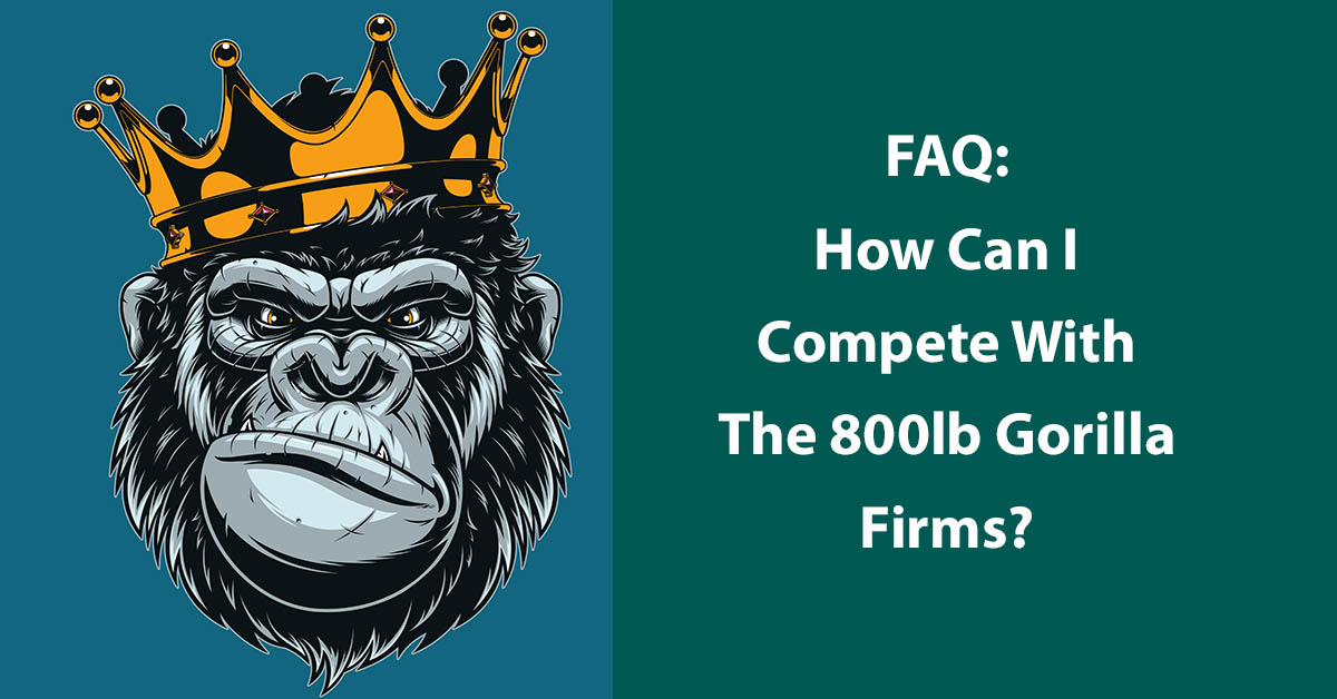 FAQ: How Can I Compete With The 800lb Gorilla Firms?