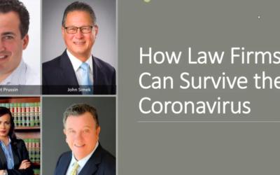How Law Firms Survive Coronavirus