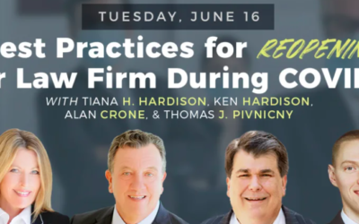 Best Practices for Reopening Your Law Firm During COVID-19