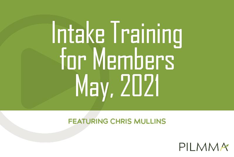 May 2021 intake training
